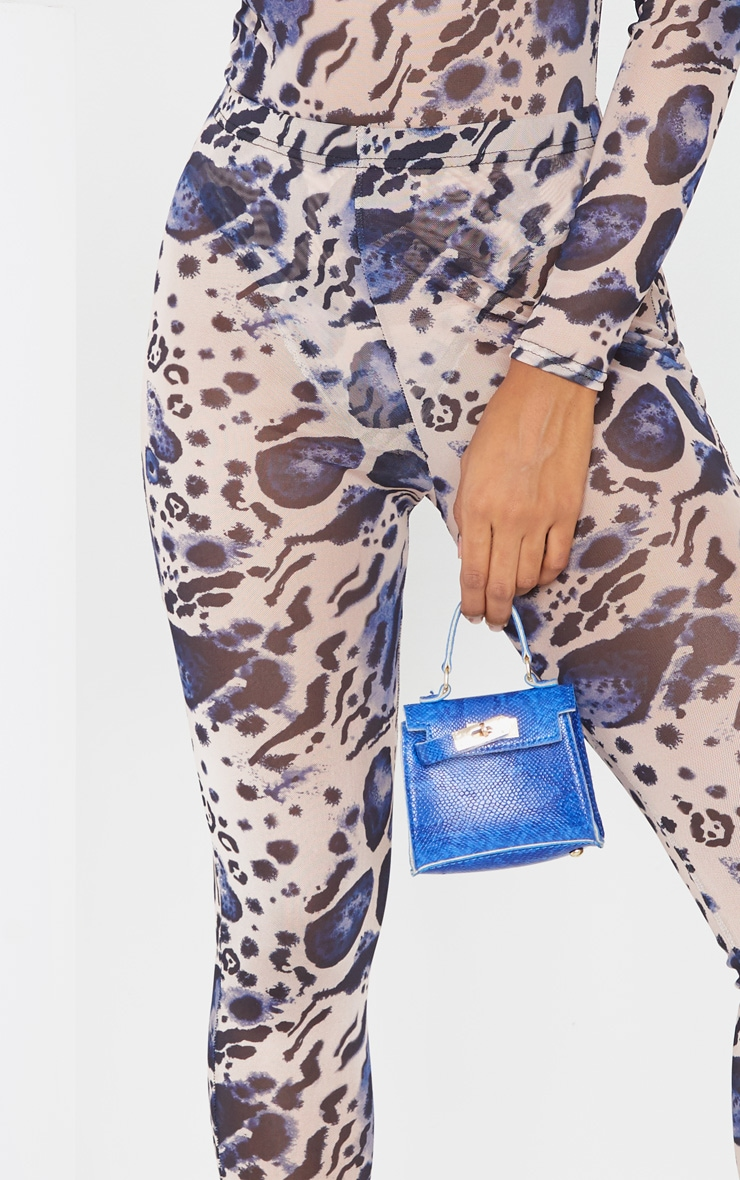 Multi Leopard Print Mesh Leggings 4