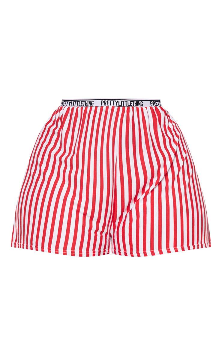 Red Pretty Little Thing Floaty Shorts  4