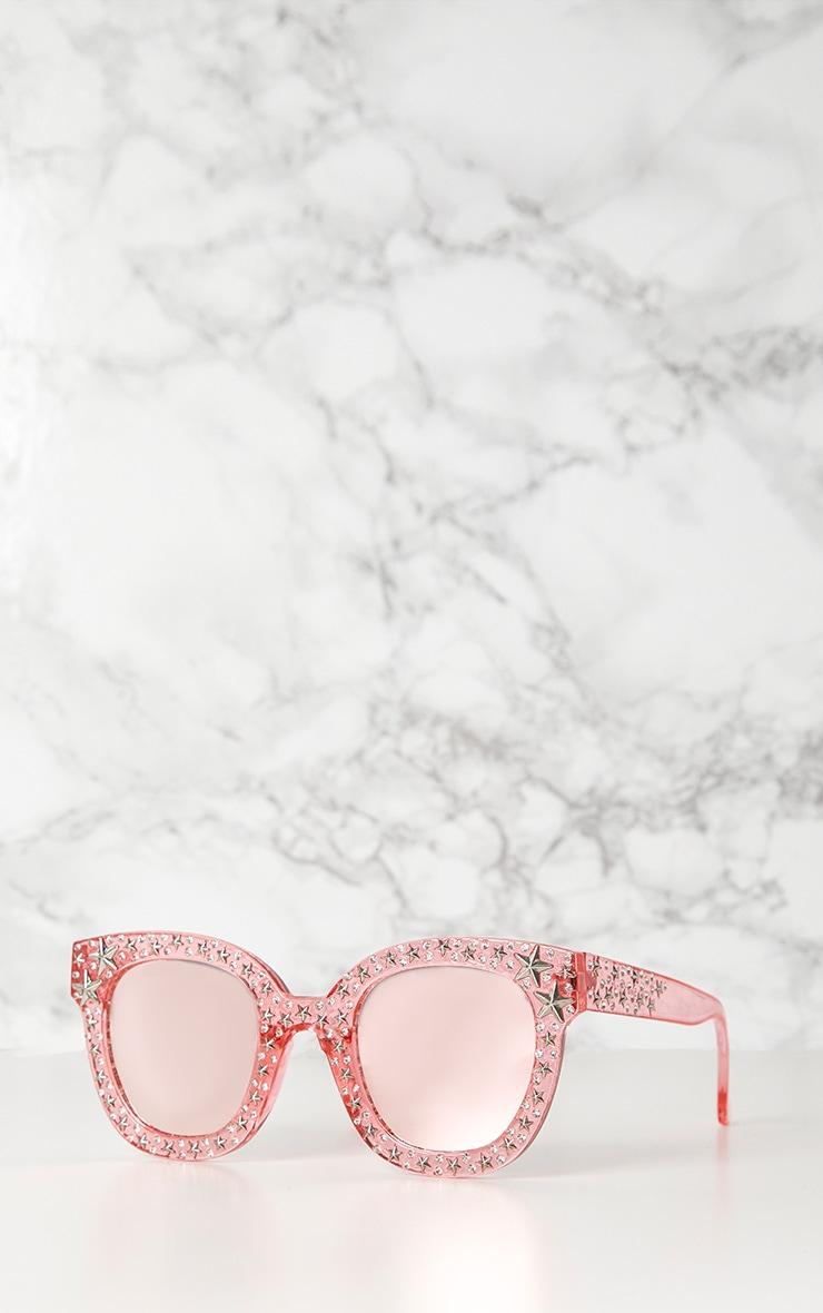 Pink Star Stud Sunglasses 2