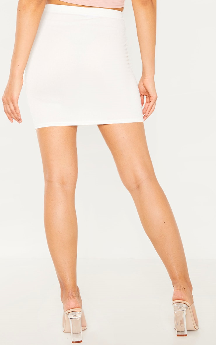 Cream Ladder Detail Mini Skirt  4