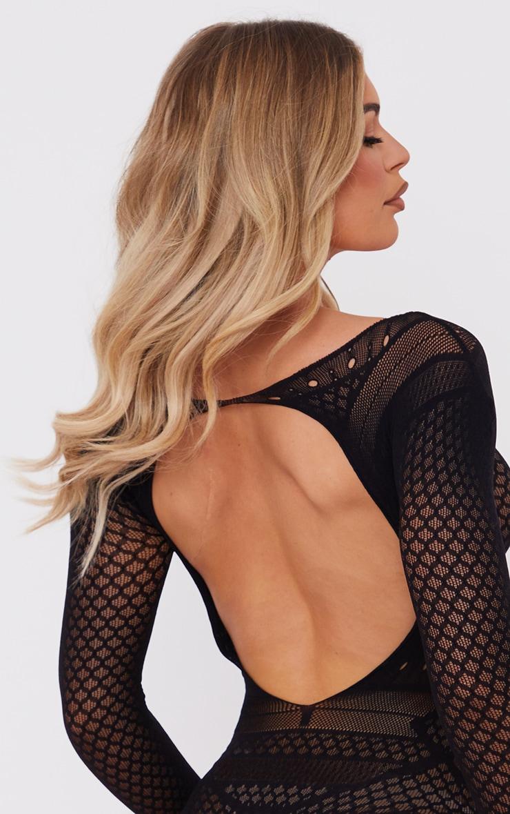 Black Bardot Lace Lingerie Body 4