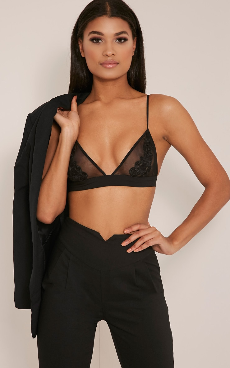 Cali Black Applique Bralet 1