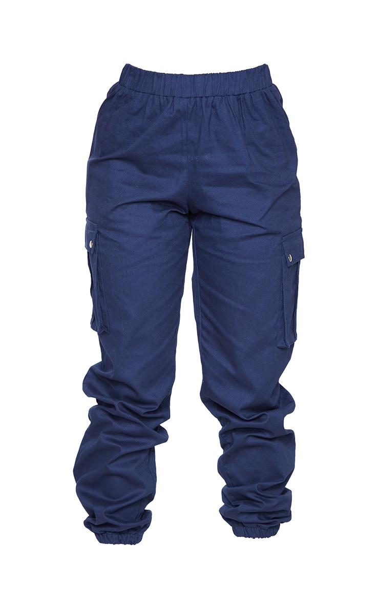 Petite Navy Pocket Detail Cargo Pants 5