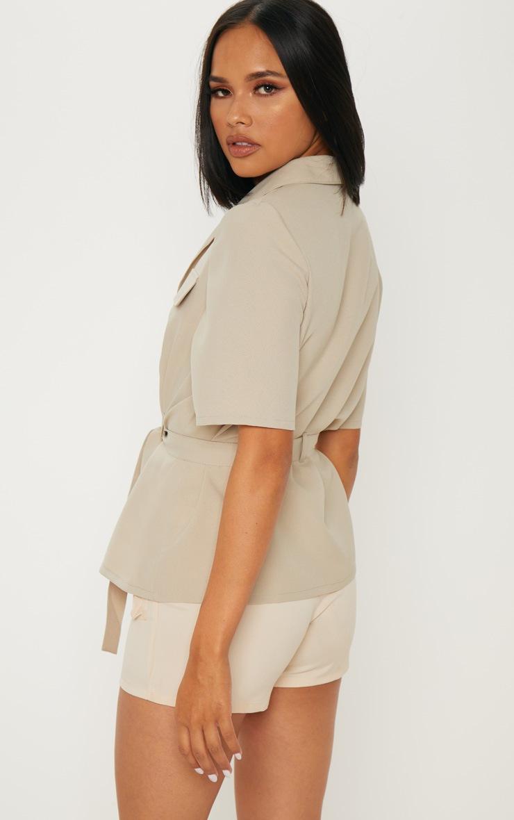 Stone Short Sleeve Utility Shirt 2