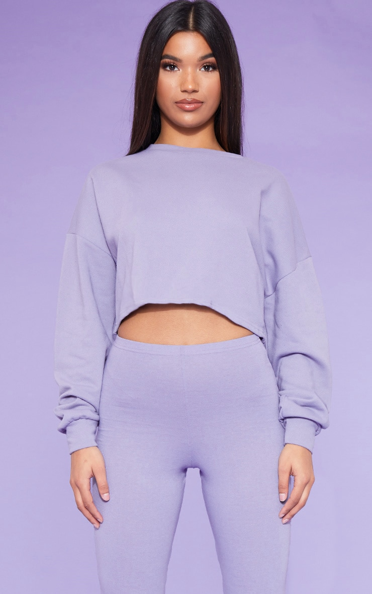 RECYCLED Violet Crop Sweater 1