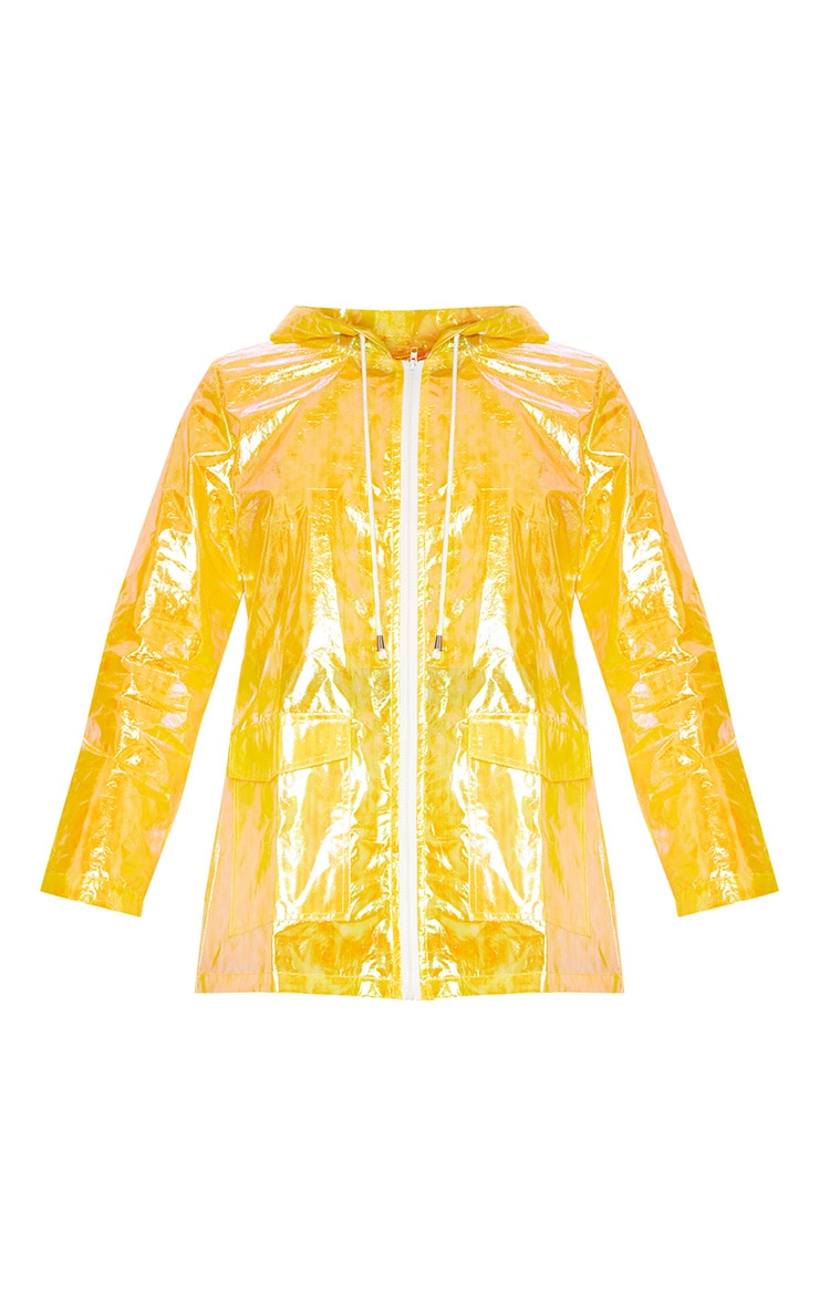 Yellow Cobie Holographic Rain Mac 3