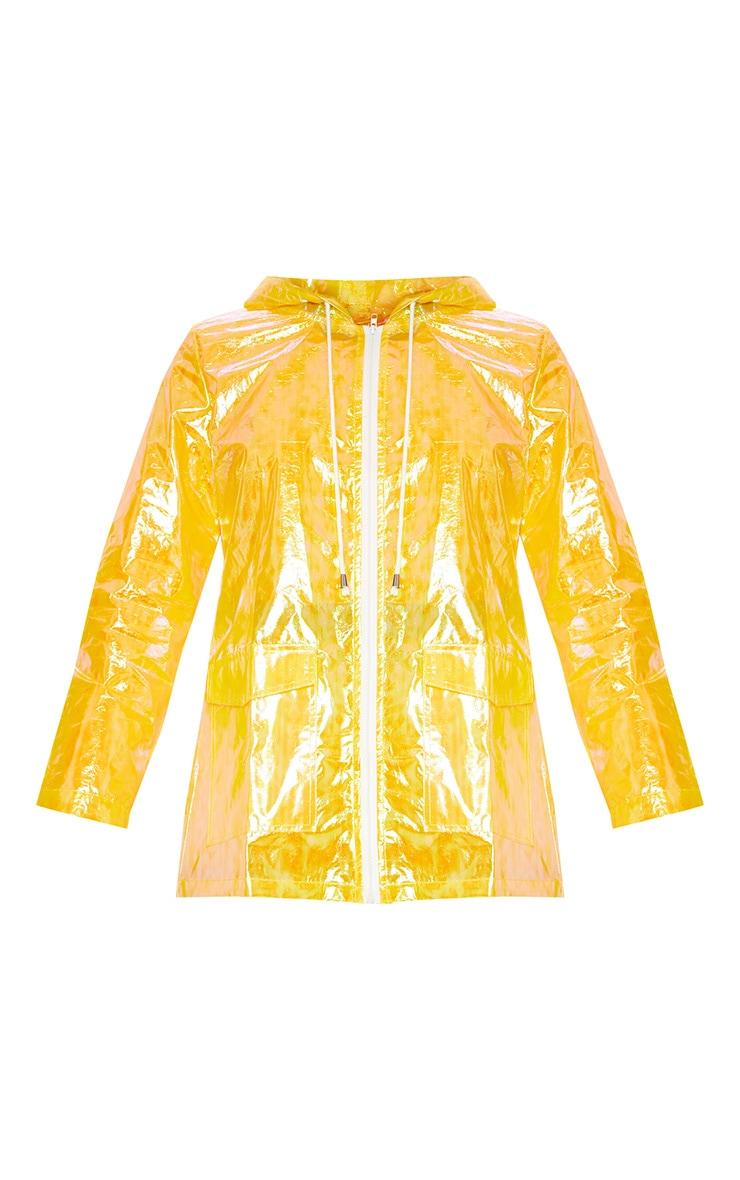 Imperméable jaune irisé 3