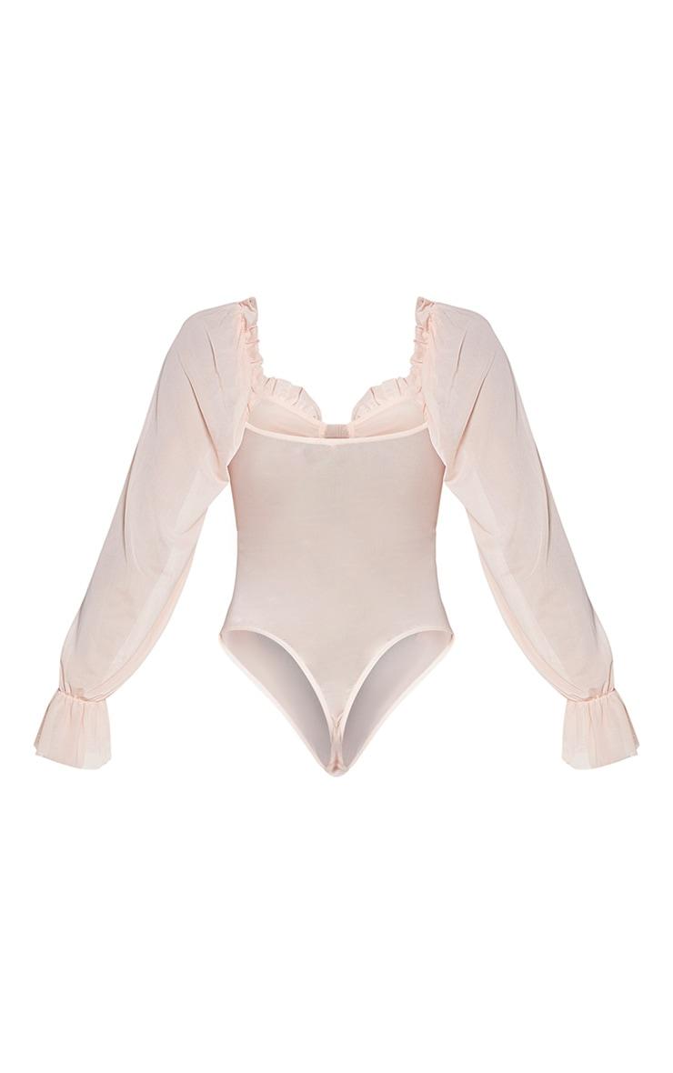 Nude Mesh Milkmaid Bodysuit 6
