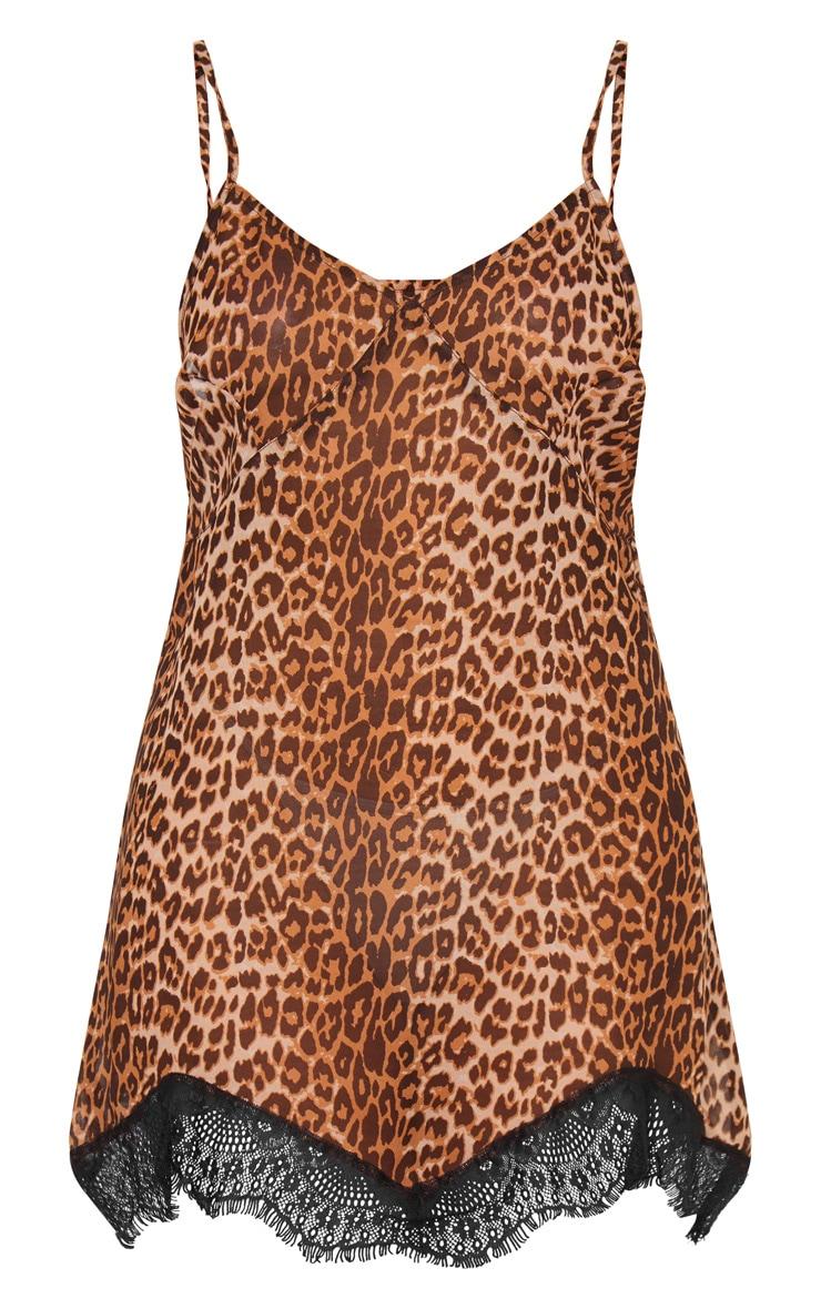 Leopard Print Lace Detail Nightie 5