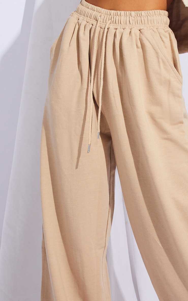 Stone Drawstring Slouch Wide Leg Trousers 4