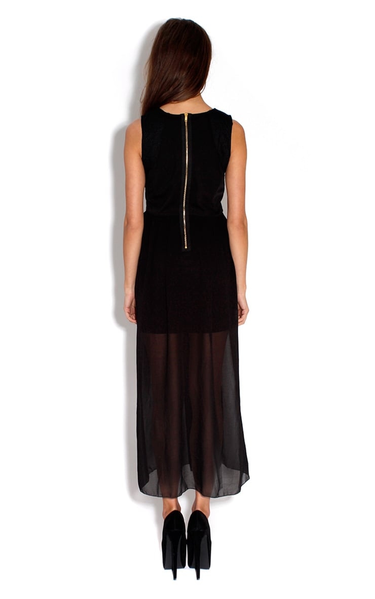 Tamsen Black & Lace Evening Dress 2