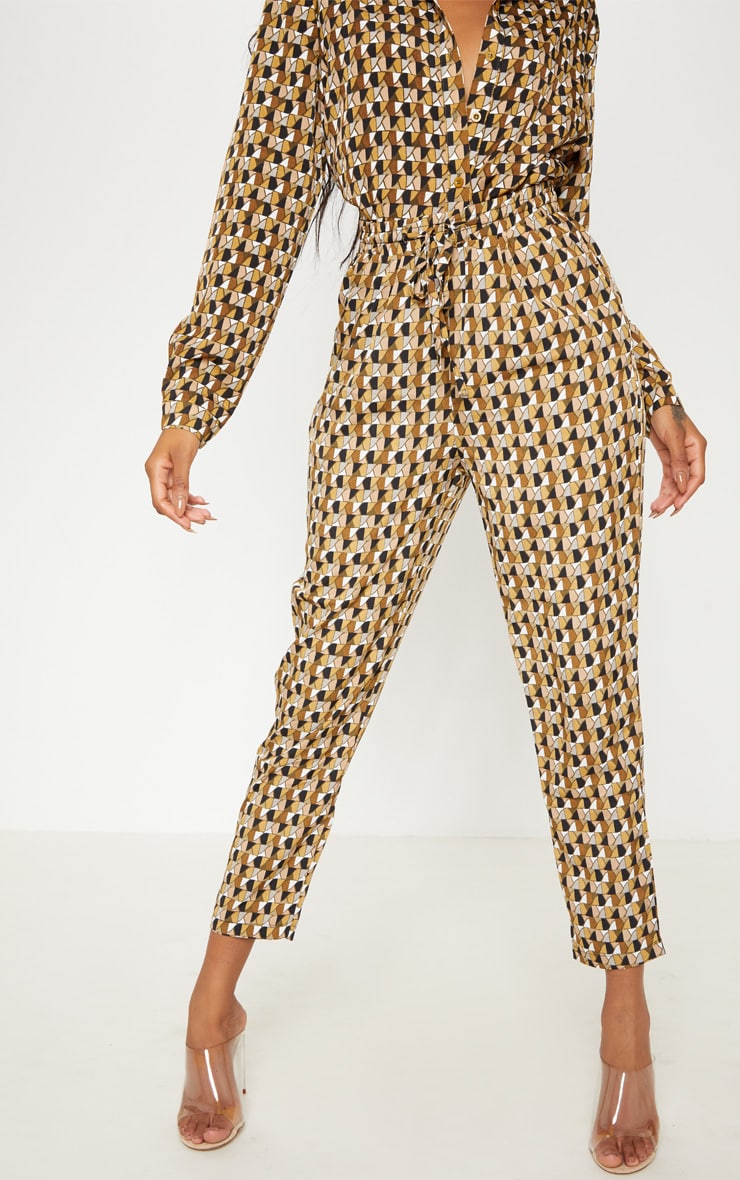 Multi Geo Print Cigarette Trouser 2
