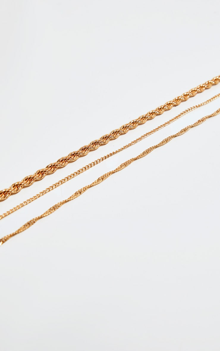 Gold Chain Necklaces Three Pack 3
