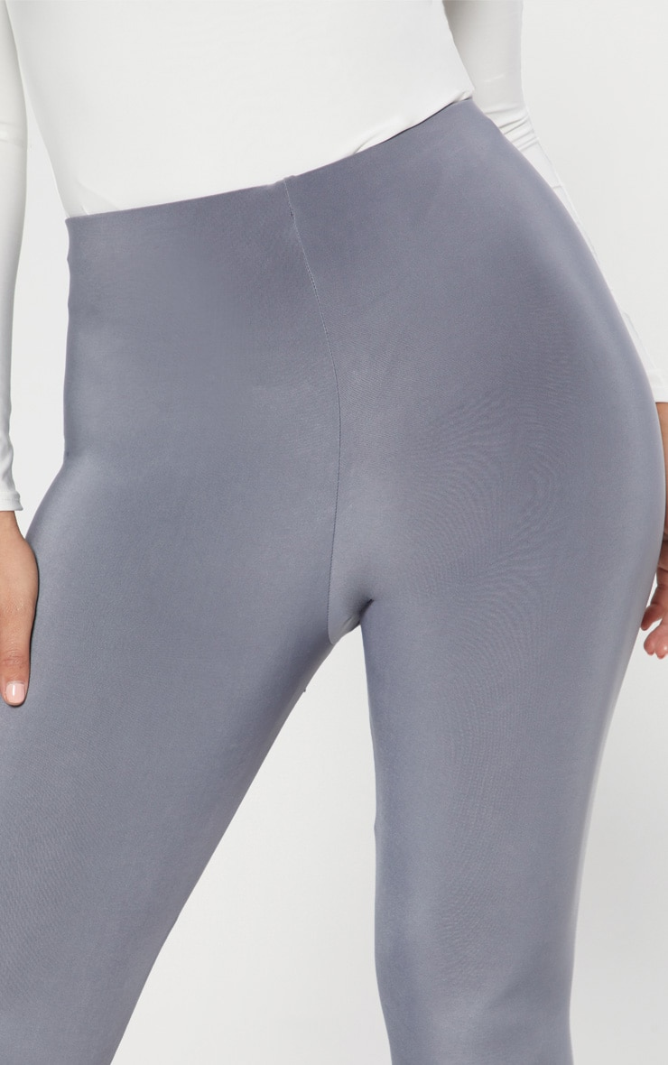 Grey Slinky Cropped Legging  5