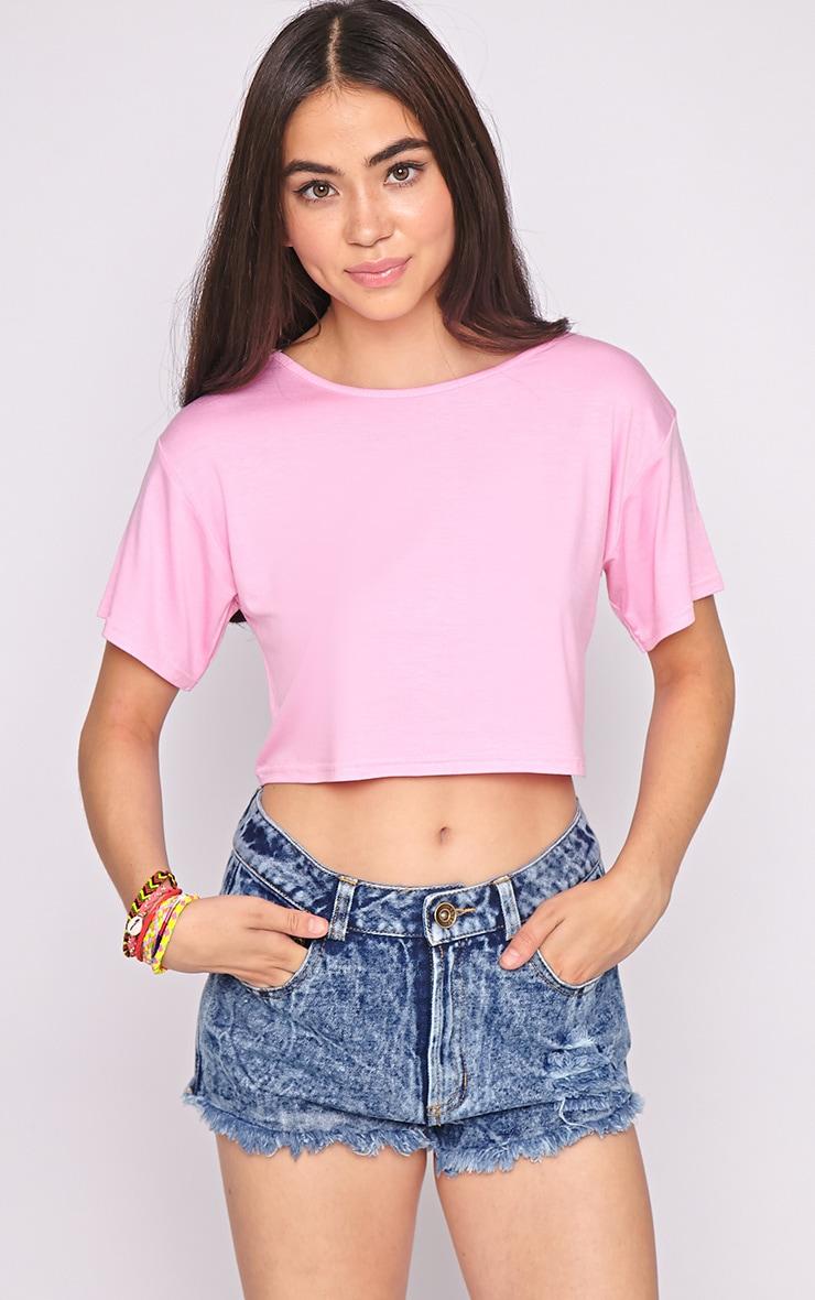 Lucille Pink Boyfriend Crop Top 4