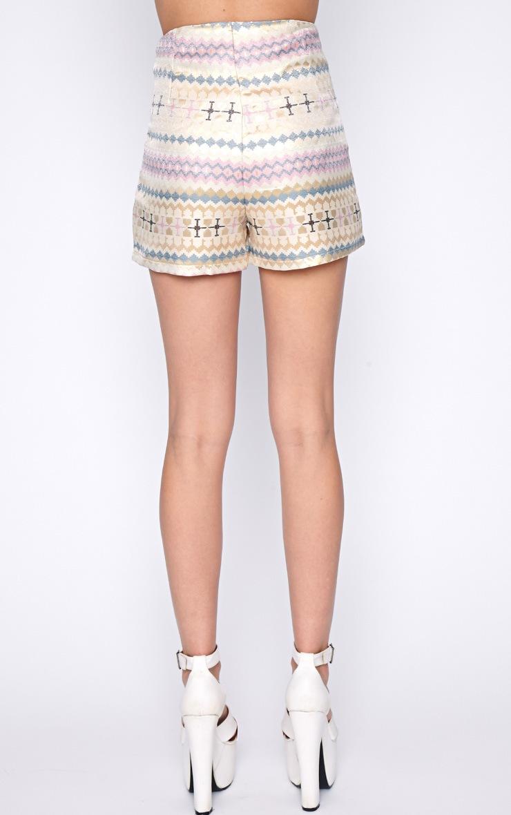 Rosy Pastel Aztec Short 2