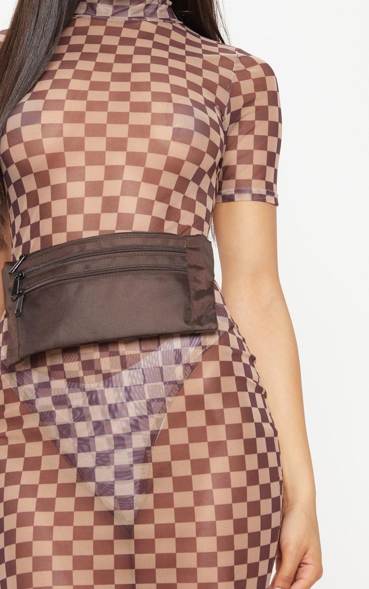 Mocha Flat Bum Bag 3
