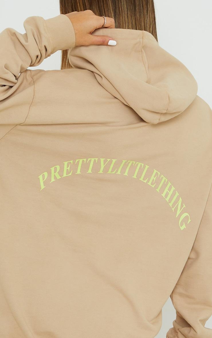 PRETTYLITTLETHING Slogan Stone Oversized Sweater Dress 4
