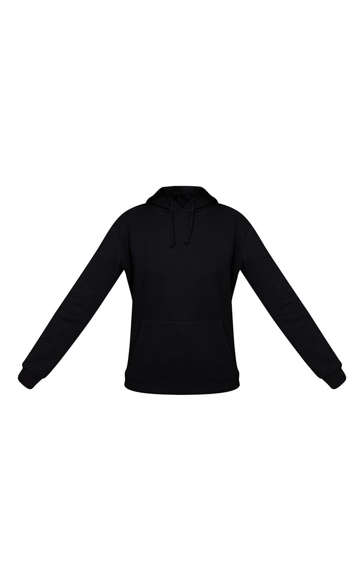 Recycled Black Basic Slim Hoodie 5