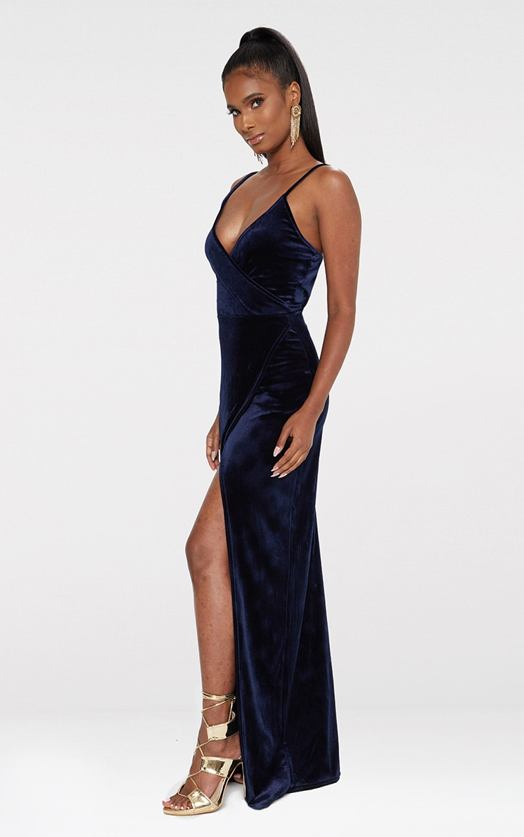 Blue Strappy Wrap Detail Maxi Dress 4