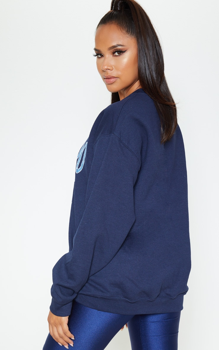 Navy Colorado Slogan Sweater 2