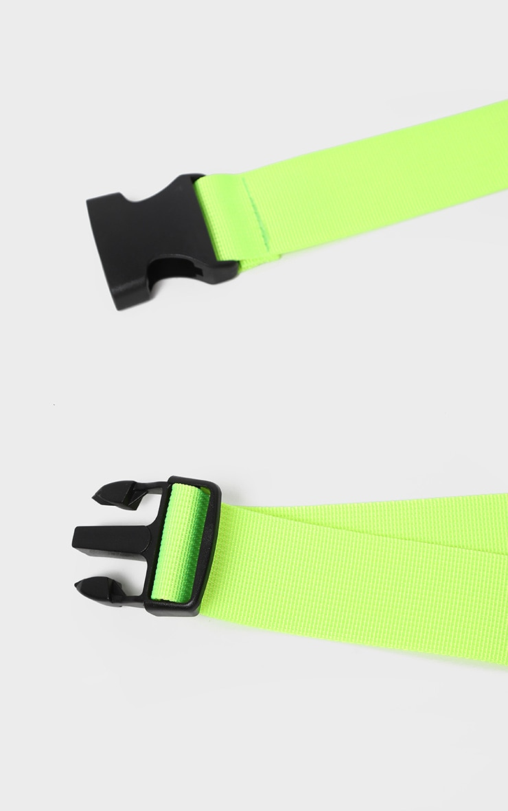 Lime Green Tape Buckle Belt 3