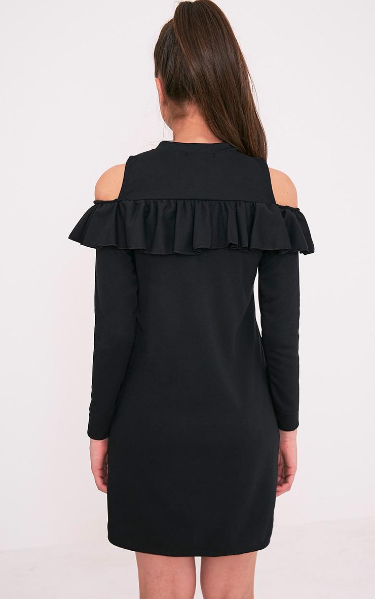 Bridy Black Cold Shoulder Sweater Dress 2