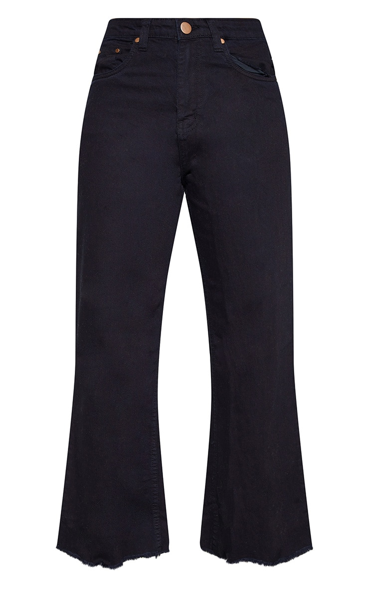 Tall Black Cropped Wide Leg Jean 3