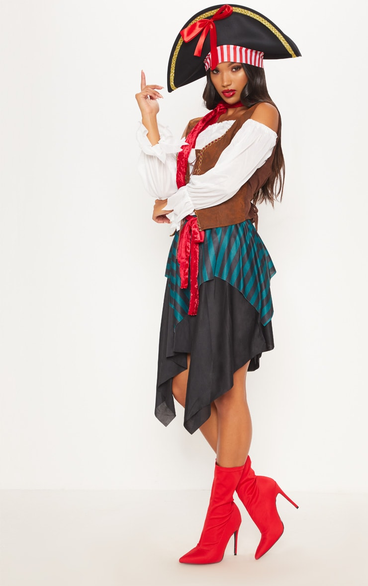 Pirate Lady Halloween Fancy Dress Outfit 4