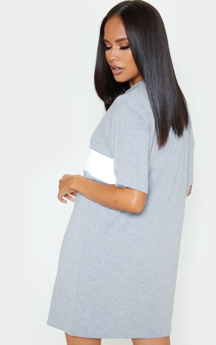 Grey Reflective Panel T Shirt Dress 2