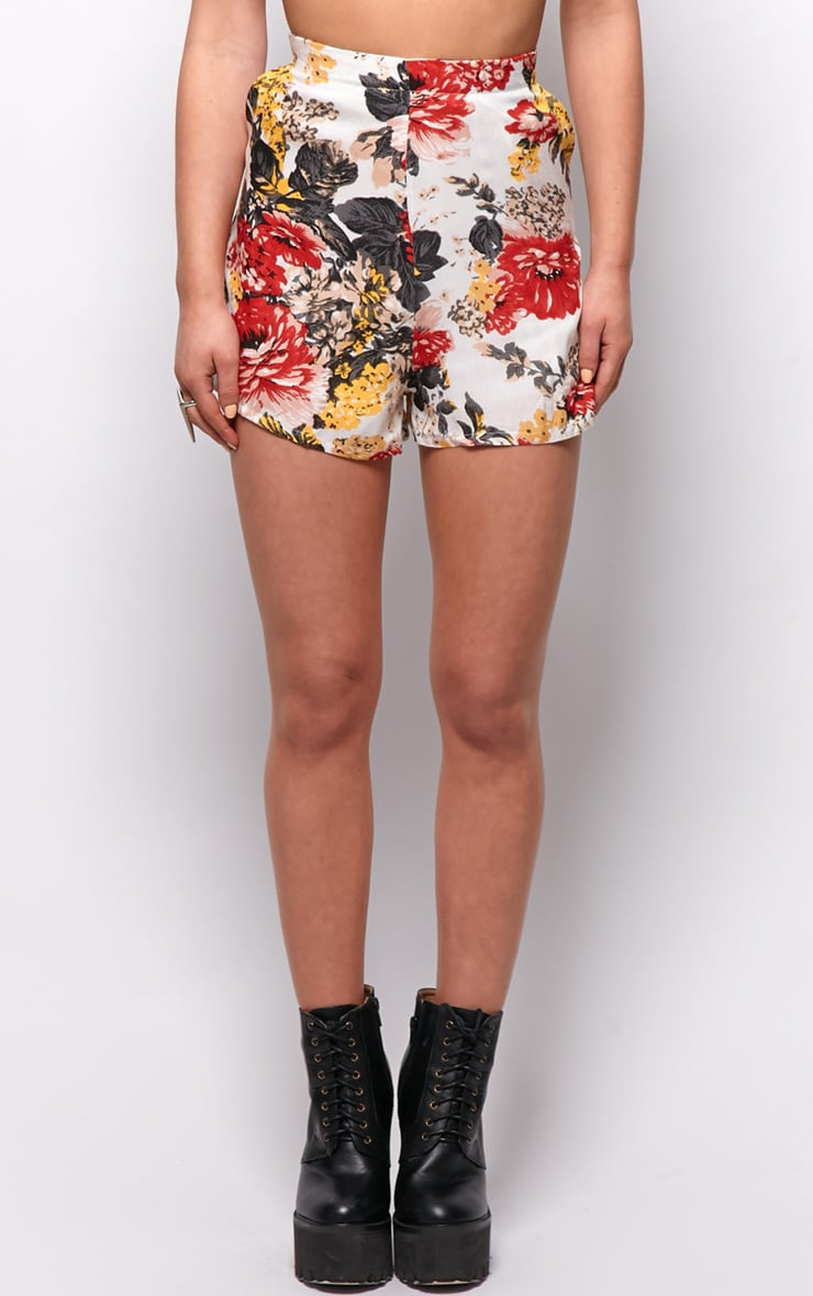 Giselle Floral Print High Waist Shorts 4
