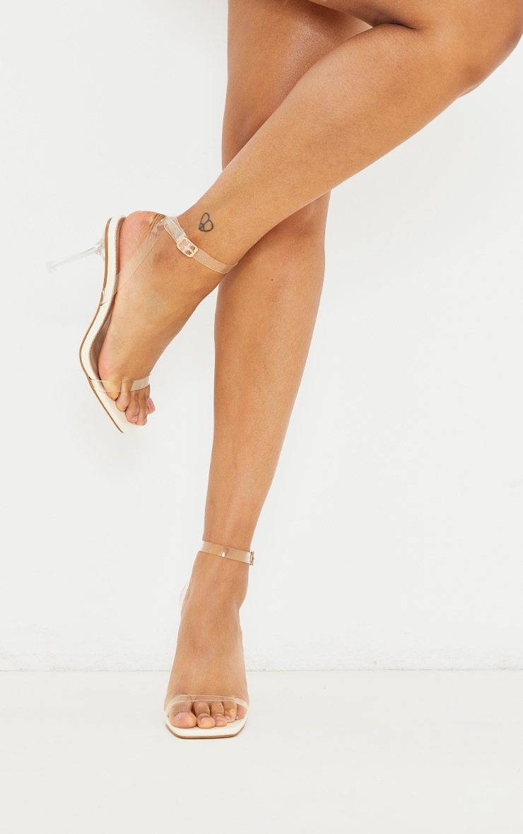 Nude Clear Heeled Sandals 1