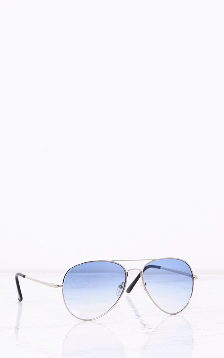 Kelie Blue Tinted Lens Aviators 5