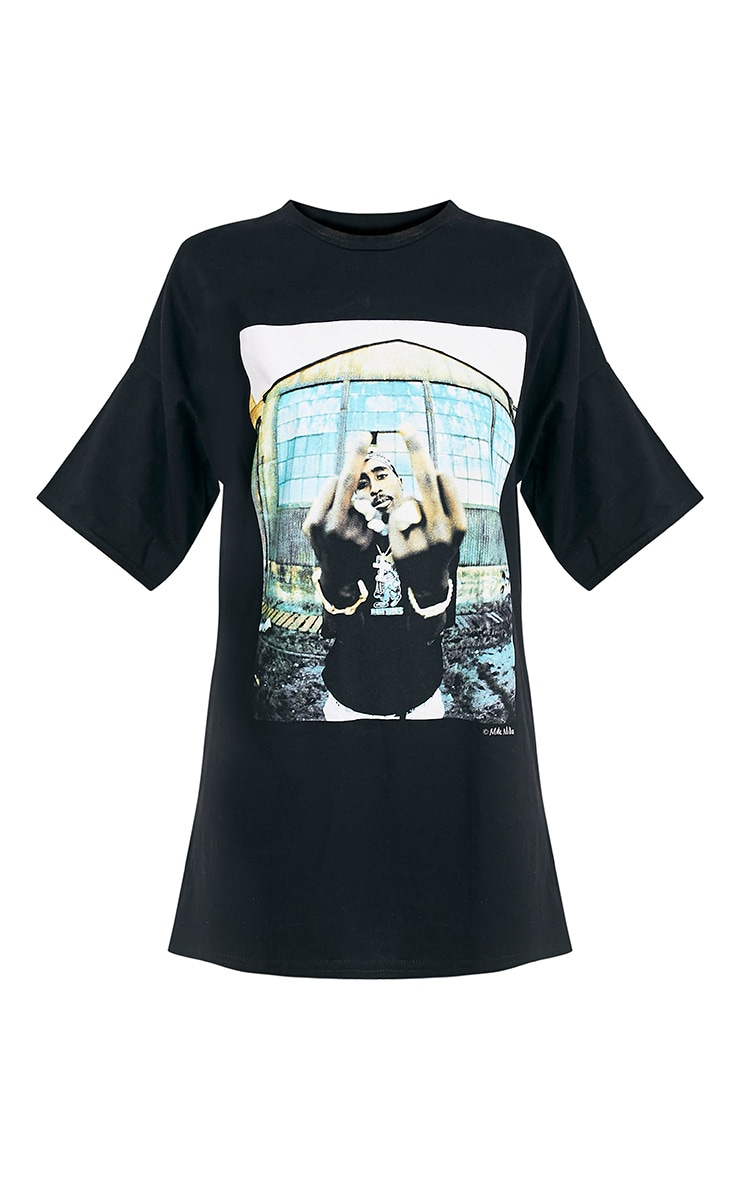 Tupac Black T-Shirt Dress 3
