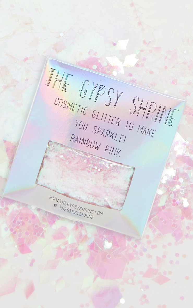 The Gypsy Shrine Rainbow Pink Glitter Bag