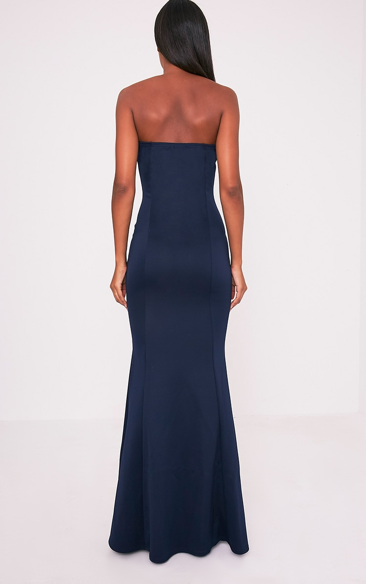 Wendie Navy Sweetheart Fishtail Maxi Dress 2