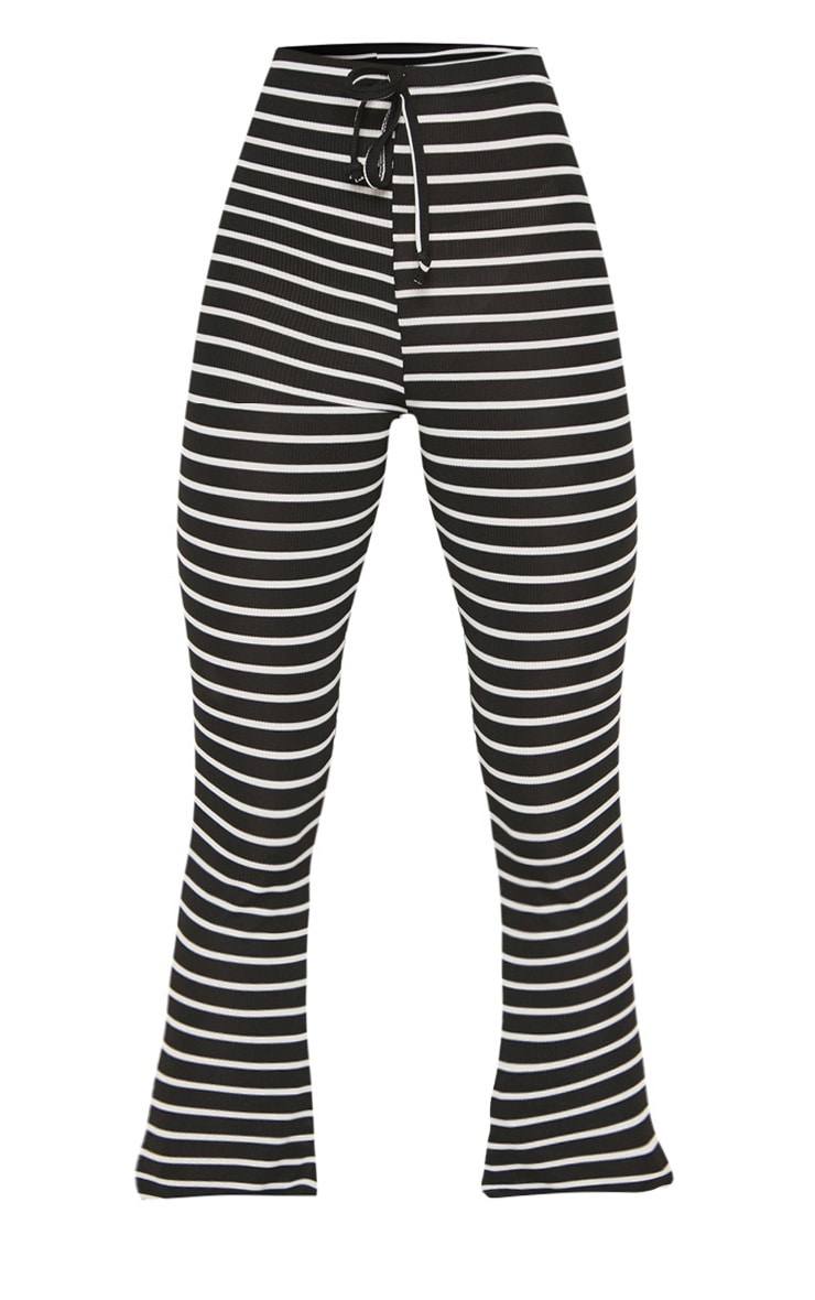 Petite Black Striped Flared Pants 3