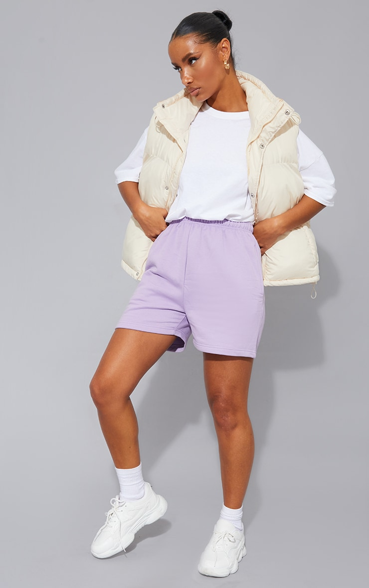 Lilac Sweat Pocket Shorts 1