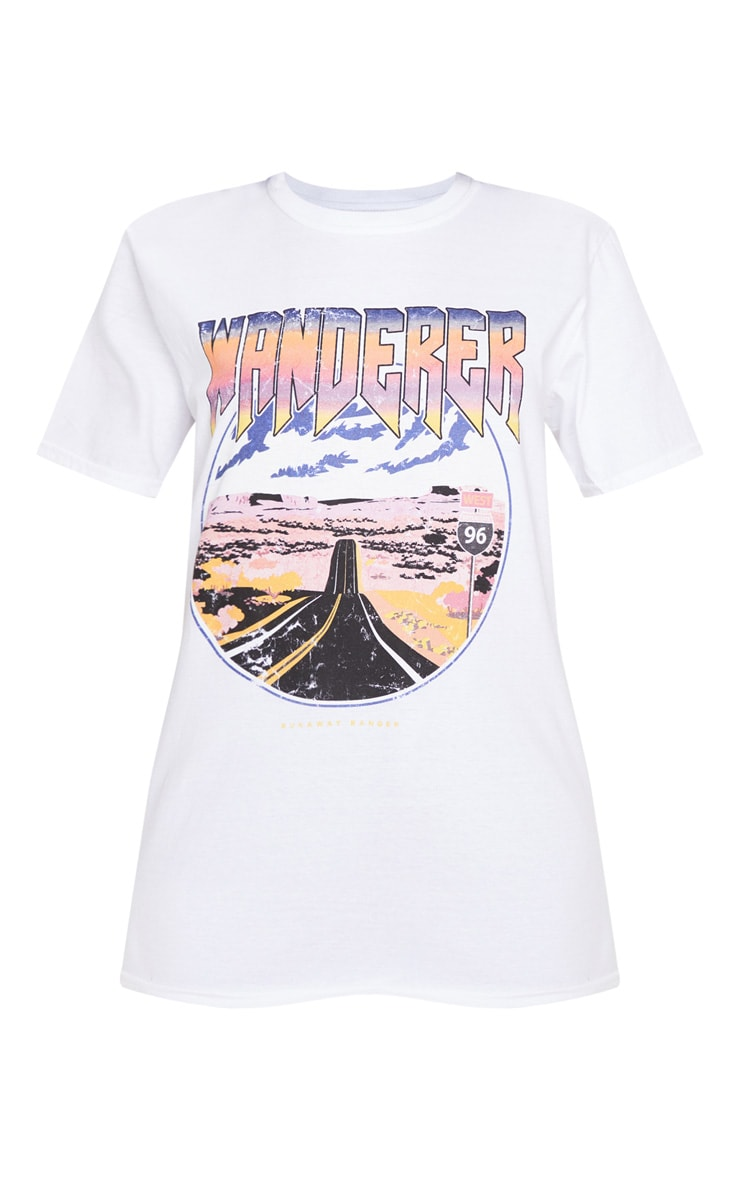 White Wanderer Oversized T Shirt 3