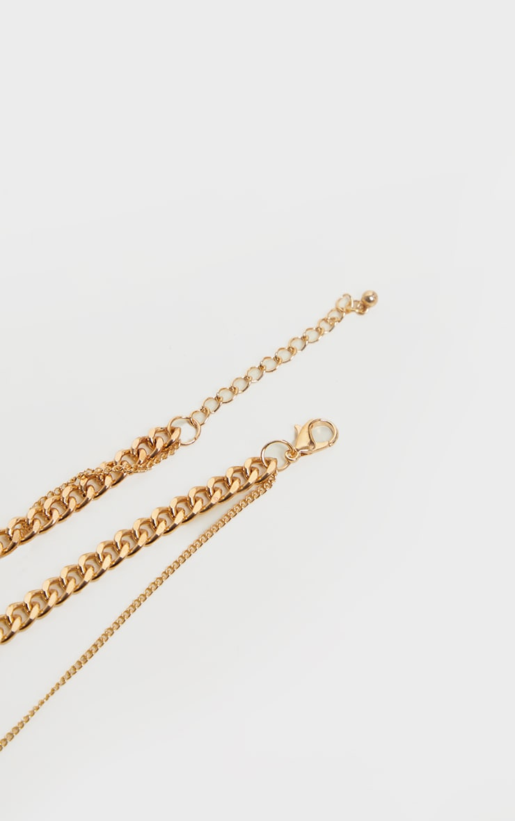 Gold Multi Hoop Layering Necklace 5