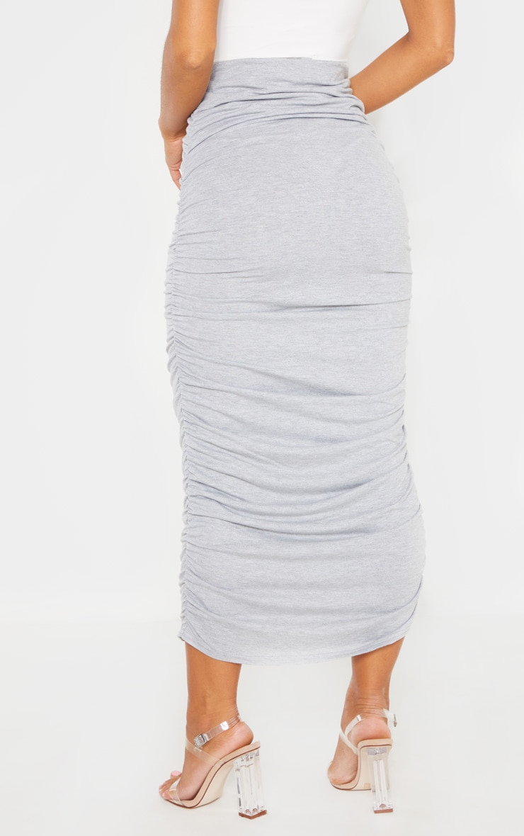 Grey Ruched Midaxi Skirt 4