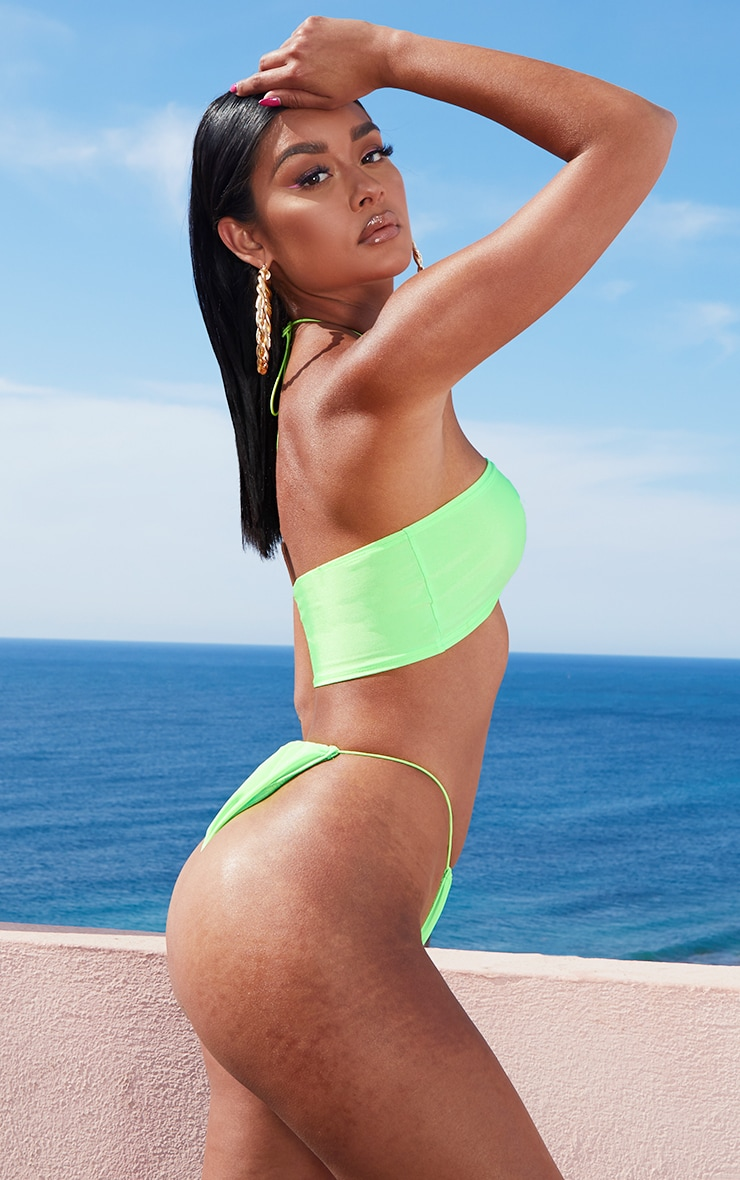 Lime Elastic Side Bikini Bottom 2