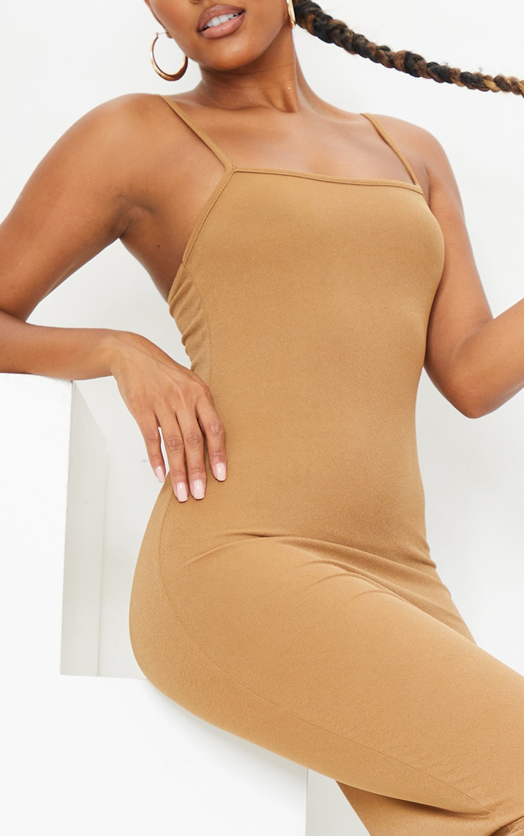 Chestnut Strappy Midi Dress 4