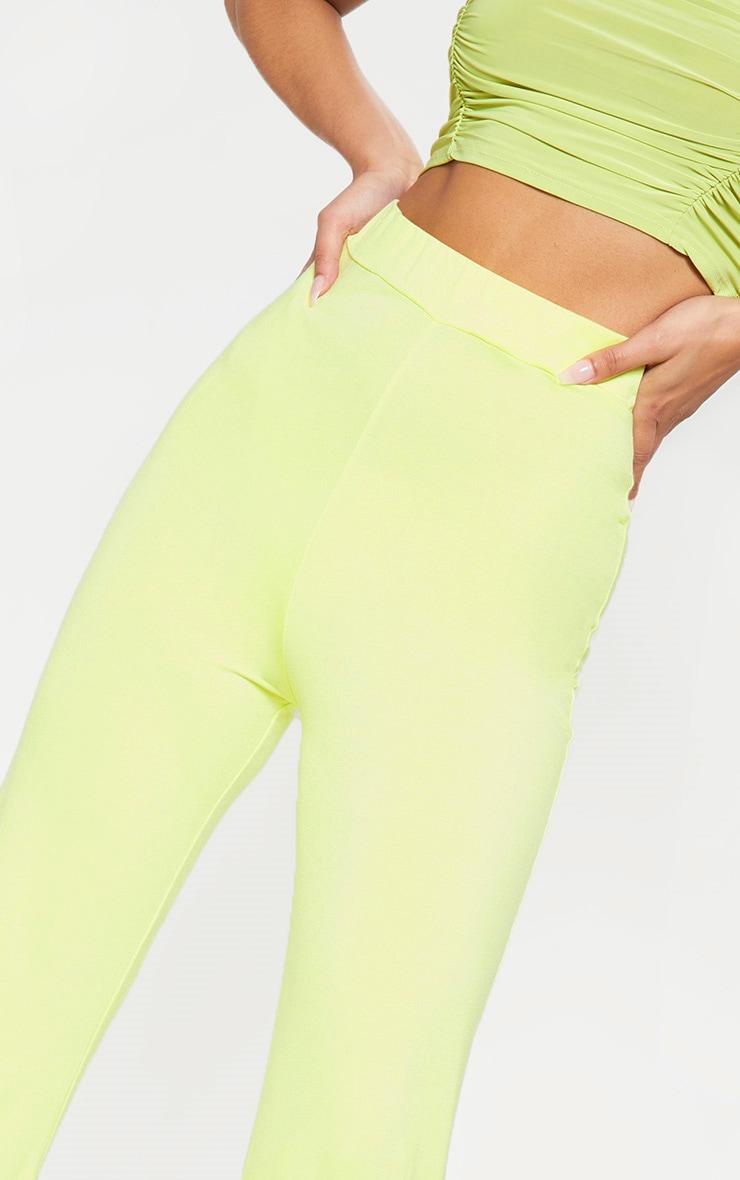Lime Basic Wide Leg Trouser 5