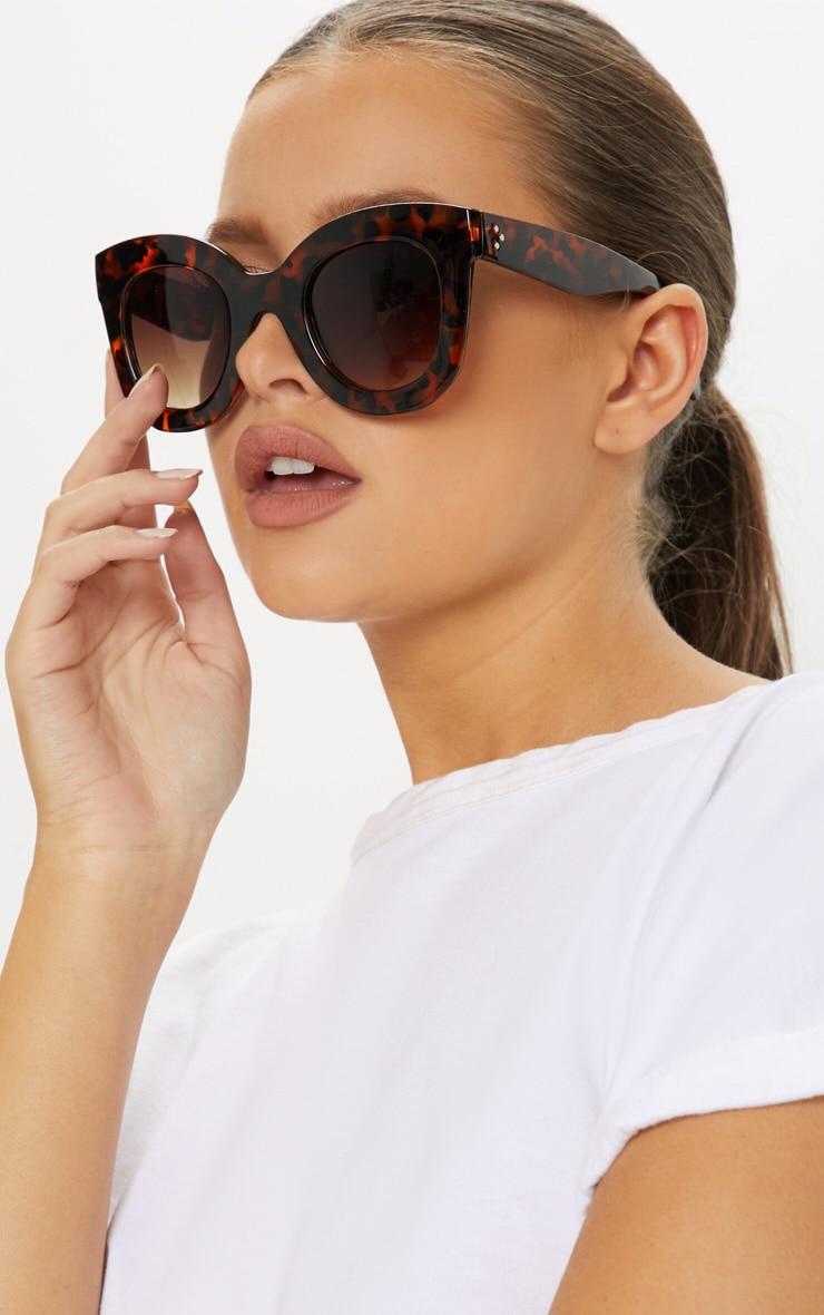 Brown Tortoiseshell Large Frame Sunglasses by Prettylittlething