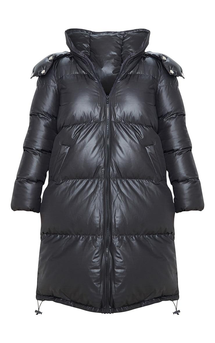 Petite Black Maxi Puffer Coat 3