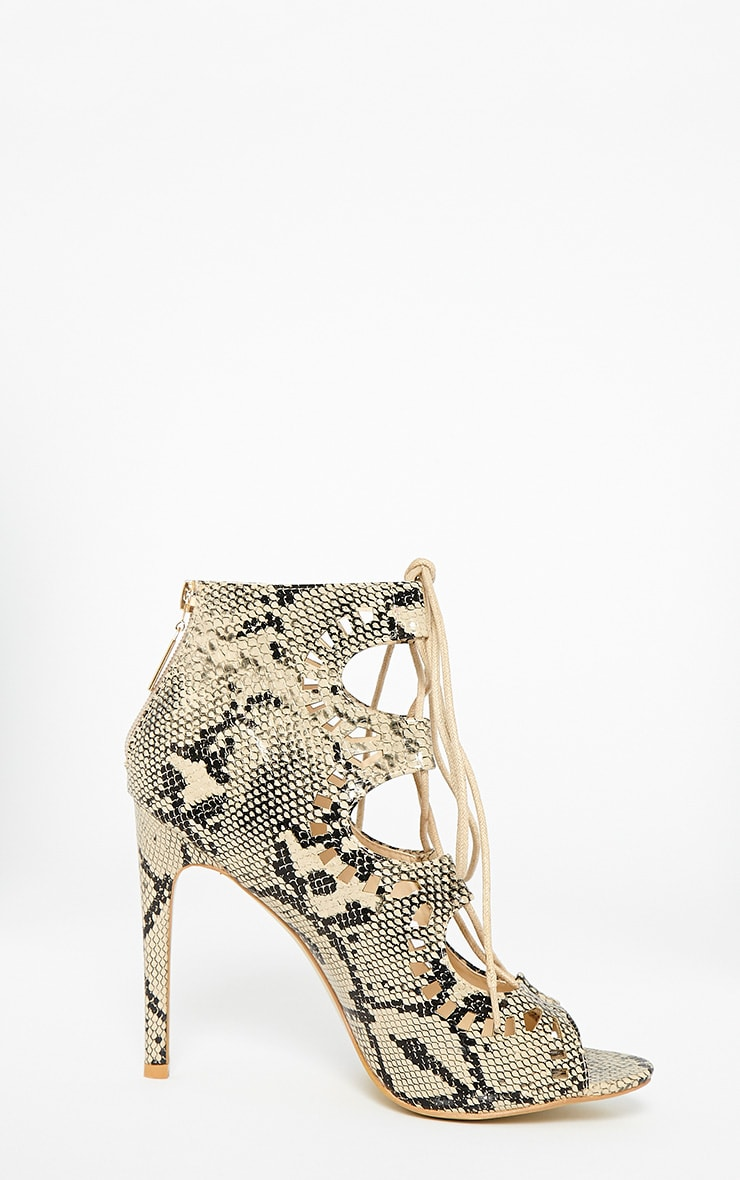 Xylia Snake Cut Out Detail Heels 4