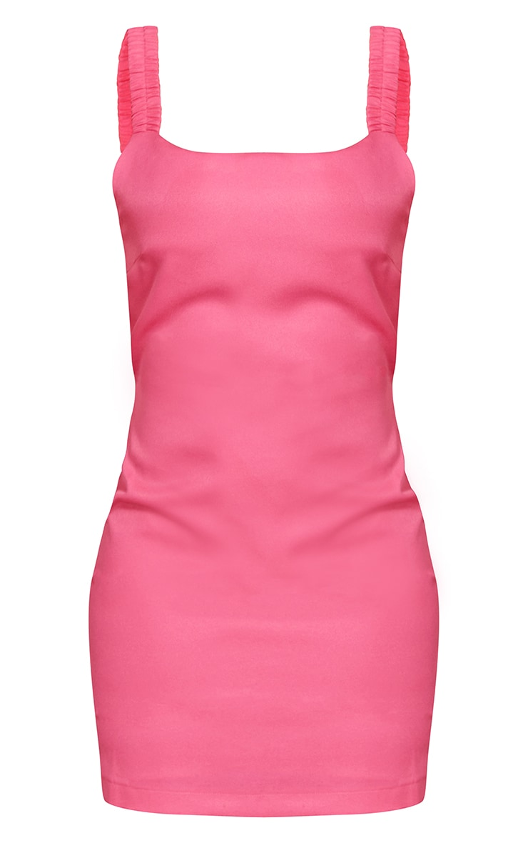 Bright Pink Woven Open Back Dress 5