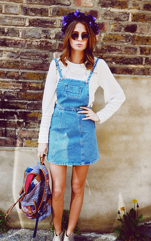 Alexa Denim Pinafore Dress 2