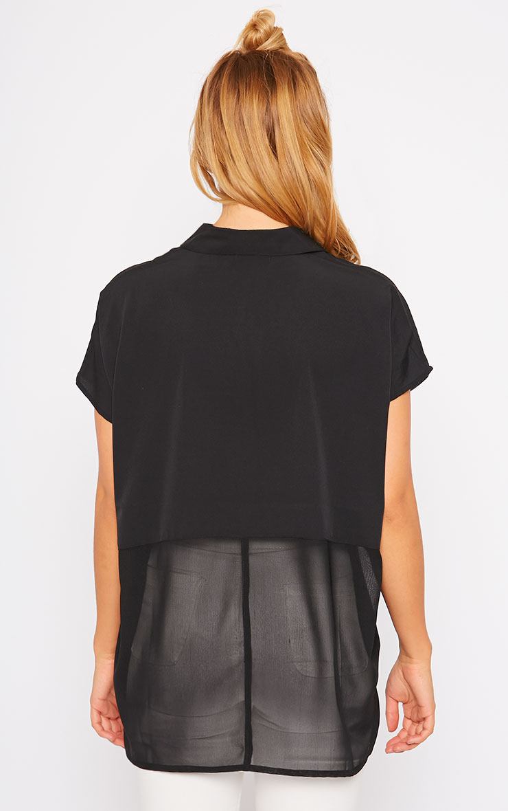 Lilith Black Short Sleeve Shirt 2